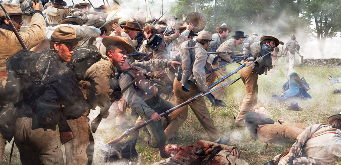 the historic depiction of the battle of gettysburg The gettysburg museum of history, gettysburg civilian patriot jennie wade was killed during the battle of gettysburg while baking bread for union soldiers.